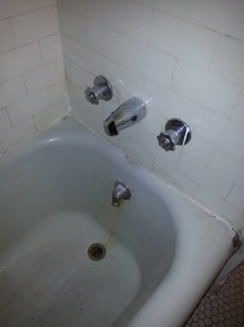 The new faucet needs a bit of a turn!