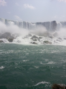 Had to include one vacation photo from Niagara Falls.  This was taken from the Maid of the Mist Boat Ride.