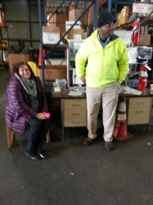 Theresa Maynard and James Carter with the LFUCG electronics recycling program.
