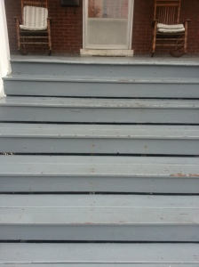 The weather has taken a toll on our front porch steps!