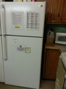 Guests appreciate the refrigerator to store their drinks and food!  Thanks! Daughters of the King!